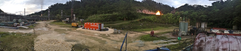 Oil recovery project (panorama)
